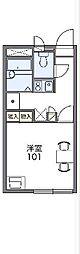 愛知環状鉄道 愛環梅坪駅 徒歩6分の賃貸アパート 2階1Kの間取り