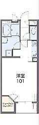 東武桐生線 治良門橋駅 徒歩11分の賃貸アパート 2階1Kの間取り