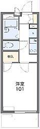 遠州鉄道 新浜松駅 徒歩15分の賃貸マンション 2階1Kの間取り