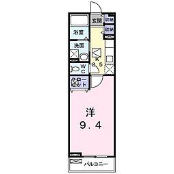 東武伊勢崎線 新越谷駅 徒歩6分の賃貸アパート 1階1Kの間取り
