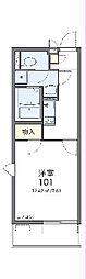 東武伊勢崎線 北越谷駅 徒歩23分の賃貸マンション 1階1Kの間取り