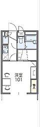 東武東上線 東松山駅 バス15分 丸貫下車 徒歩5分の賃貸アパート 1階1Kの間取り