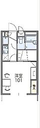 東武東上線 東松山駅 バス15分 丸貫下車 徒歩5分の賃貸アパート 2階1Kの間取り