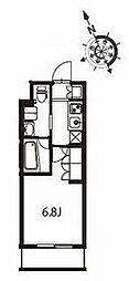 京急本線 立会川駅 徒歩3分の賃貸マンション 5階1Kの間取り