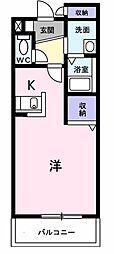 JR東海道本線 岐阜駅 バス22分 西中島停下車 徒歩4分の賃貸マンション 1階1Kの間取り