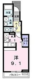 JR高崎線 本庄駅 徒歩19分の賃貸アパート 1階1Kの間取り