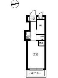 JR京浜東北・根岸線 港南台駅 徒歩17分の賃貸マンション 2階ワンルームの間取り
