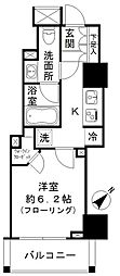JR山手線 五反田駅 徒歩4分の賃貸マンション 3階1Kの間取り