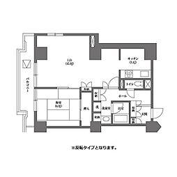 都営三田線 千石駅 徒歩4分の賃貸マンション 7階1LDKの間取り