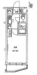 ハーモニーレジデンス東池袋ステーションフロント 2階1Kの間取り