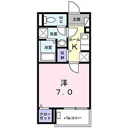 都営三田線 板橋区役所前駅 徒歩8分の賃貸アパート 2階1Kの間取り