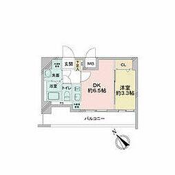 JR中央本線 鶴舞駅 徒歩2分の賃貸マンション 8階1DKの間取り