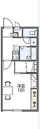 JR御殿場線 御殿場駅 バス11分 六日市場下車 徒歩7分の賃貸アパート 1階1Kの間取り