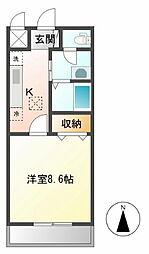 西武池袋線 飯能駅 バス7分 浅間停下車 徒歩3分の賃貸アパート 1階1Kの間取り