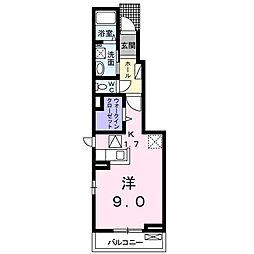 名古屋市営東山線 本郷駅 バス15分 極楽西下車 徒歩2分の賃貸アパート 1階1Kの間取り