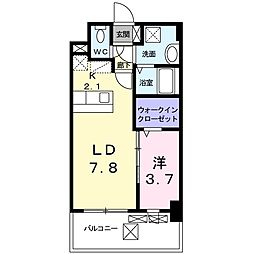 西鉄天神大牟田線 大橋駅 バス17分 上警固下車 徒歩2分の賃貸マンション 3階1LDKの間取り