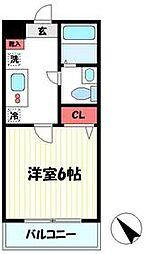 JR横須賀線 保土ヶ谷駅 徒歩8分の賃貸マンション 2階1Kの間取り