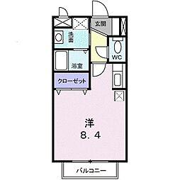 湘南新宿ライン宇須 古河駅 バス7分 原十字路下車 徒歩2分の賃貸アパート 1階1Kの間取り