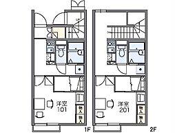 JR常磐線 荒川沖駅 バス25分 阿見五本松下車 徒歩3分の賃貸アパート 2階1Kの間取り