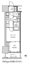 名古屋市営東山線 新栄町駅 徒歩8分の賃貸マンション 10階1DKの間取り