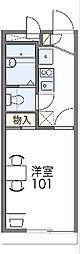 レオパレスFuchu Kita 2階1Kの間取り