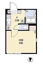 都営三田線 西巣鴨駅 徒歩6分の賃貸マンション 4階1Kの間取り
