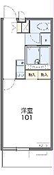JR青梅線 河辺駅 徒歩8分の賃貸マンション 2階1Kの間取り