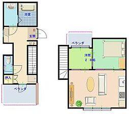 東京メトロ東西線 門前仲町駅 徒歩9分の賃貸マンション 5階1SLDKの間取り