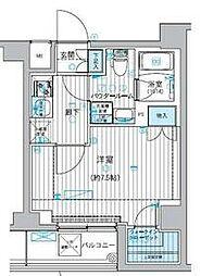 東急多摩川線 矢口渡駅 徒歩3分の賃貸マンション 1階1Kの間取り