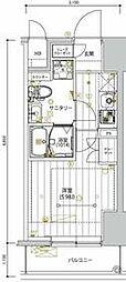 京急本線 新馬場駅 徒歩5分の賃貸マンション 4階1Kの間取り