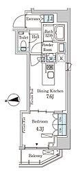 東京メトロ半蔵門線 半蔵門駅 徒歩6分の賃貸マンション 3階1DKの間取り