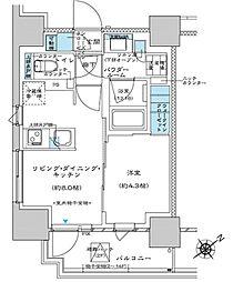 都営三田線 板橋区役所前駅 徒歩5分の賃貸マンション 3階1LDKの間取り