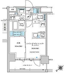 都営三田線 板橋区役所前駅 徒歩5分の賃貸マンション 13階1LDKの間取り