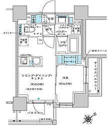 都営三田線 板橋区役所前駅 徒歩5分の賃貸マンション 7階1LDKの間取り