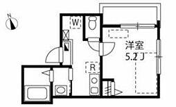 都営新宿線 船堀駅 徒歩8分の賃貸アパート 2階1Kの間取り