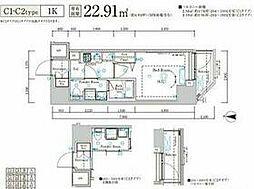 JR総武線 新小岩駅 徒歩10分の賃貸マンション 7階1Kの間取り
