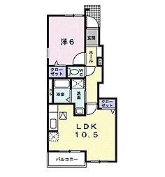JR高崎線 本庄駅 徒歩24分の賃貸アパート 1階1LDKの間取り