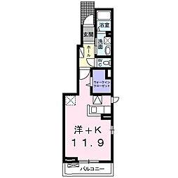 東葉高速鉄道 船橋日大前駅 徒歩5分の賃貸アパート 1階1Kの間取り