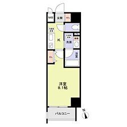 名古屋市営桜通線 丸の内駅 徒歩8分の賃貸マンション 2階1Kの間取り