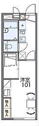 JR山陰本線 亀岡駅 徒歩14分の賃貸アパート 2階1Kの間取り