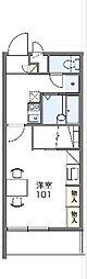 東武伊勢崎線 館林駅 徒歩12分の賃貸マンション 1階1Kの間取り