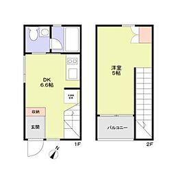 M−house 1階1DKの間取り