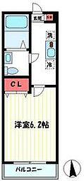 JR南武線 津田山駅 徒歩8分の賃貸アパート 1階1Kの間取り