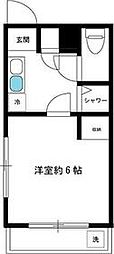 JR山手線 新大久保駅 徒歩2分の賃貸マンション 1階1Kの間取り