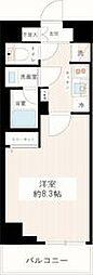 東京メトロ有楽町線 平和台駅 徒歩6分の賃貸マンション 3階1Kの間取り