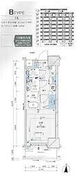 JR総武線 亀戸駅 徒歩9分の賃貸マンション 2階1Kの間取り