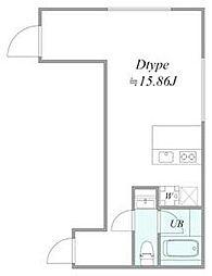 西武池袋線 椎名町駅 徒歩6分の賃貸マンション 1階1LDKの間取り