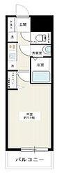 都営新宿線 西大島駅 徒歩12分の賃貸マンション 9階1Kの間取り