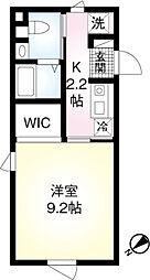 東京メトロ千代田線 明治神宮前駅 徒歩10分の賃貸マンション 2階1Kの間取り