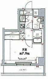 東武伊勢崎線 東向島駅 徒歩6分の賃貸マンション 4階1Kの間取り